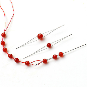 Open the Bead Needle DIY Beading Needles Supplies for Making Beads Handmade Pins Jewelry Accessories Tools 1PCS Beading Needles