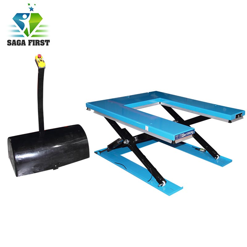 U Shape Scissor Lift Table With Aluminum Alloy Blend-stop