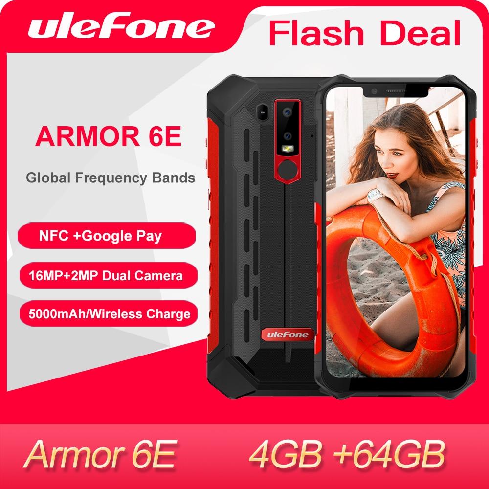 Ulefone Power 6E прочный мобильный телефон 4 Гб + 64 Гб IP68 Водонепроницаемый NFC Helio P70 Otca-core Android Беспроводной зарядки смартфона