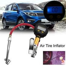 Car Tire Gauge Digital LCD Car Air Tyre Inflator High Accurate Pressure Dual Chuck Air Compressor Pump of Tire Inflator Pressure