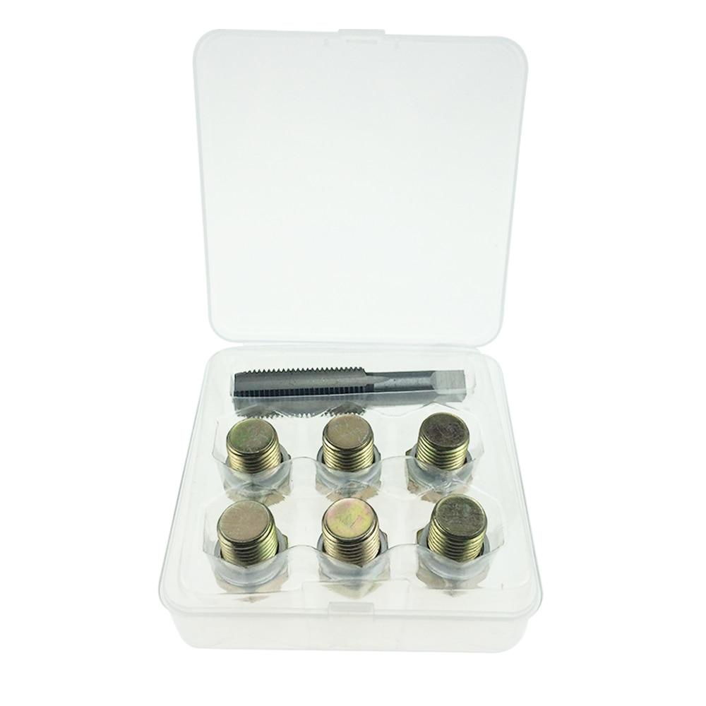 Automotive Oil Pan Drain Sump Plug Key Thread Repair Tool Kit M13 X 1.5MM AT2087B