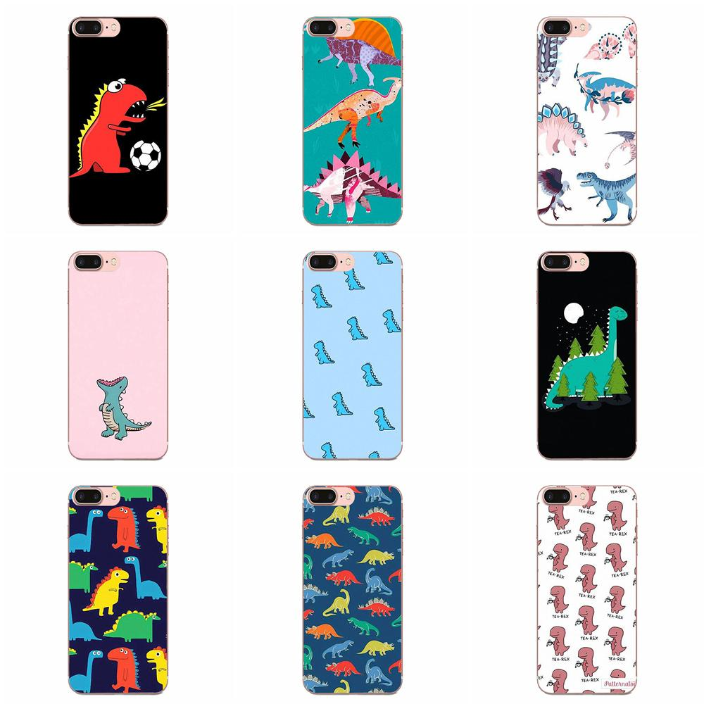 Soft Cell Phone Case Animal Dinosaur Colorful Cute For Galaxy Grand A3 A5 A7 A8 A9 A9S On5 On7 Plus Pro Star 2015 2016 2017 2018 image