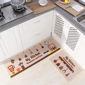 Image 3 - Long Kitchen Mat Bath Carpet Floor Mat Home Entrance Doormat Tapete Absorbent Bedroom Living Room Floor Mats Modern Kitchen Rug