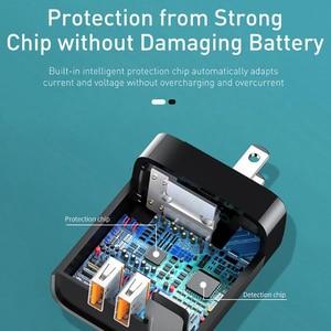 "Image 4 - Baseus 18W USB מטען תשלום מהיר 3.0 נייד טלפון מטען דיגיטלי תצוגת נסיעות מטען קיר האיחוד האירופי בארה""ב מתאם עבור iP ForXiaomi"