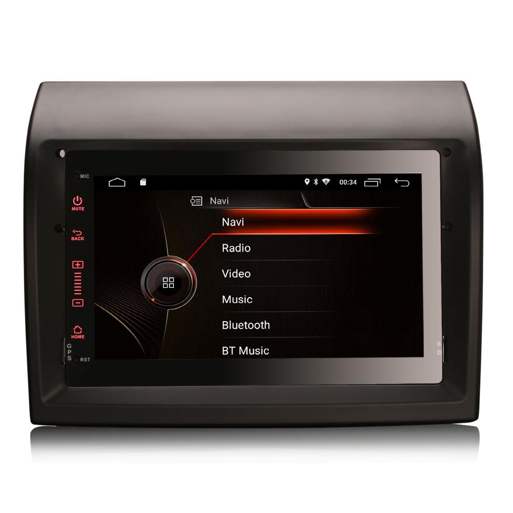 """7 """"Android 10.0 os Car Multimedia Sistema de Navegação GPS Radio Player para Peugeot Boxer 2011-2015 com Construído-em Função CarPlay"""