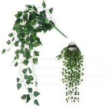 Artificial Fake Scindapsus Leaves Greenery Ivy Vine Plants for Home Decor Indoor Outdoor (Scindapsus Leaves)