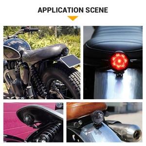 Image 5 - אופנוע זנב אור אדום LED קפה רייסר סגנון להפסיק זנב אור אופנוע בלם אחורי מנורת טאיליט עבור פר Bobber 12V