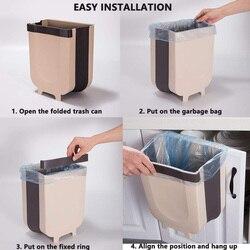 Wiszący kosz na śmieci składany mały kosz na śmieci kosz na śmieci do drzwi do szafki kuchennej XHC88