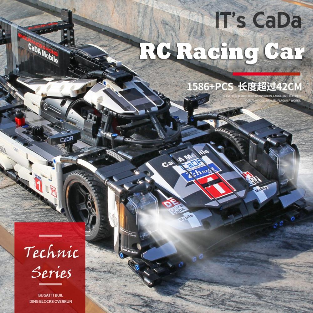 Cada bloques técnicos rc deportes carreras coche bloques de construcción ladrillos juguetes educativos para niños modelos kits de construcción-in Bloques from Juguetes y pasatiempos    1