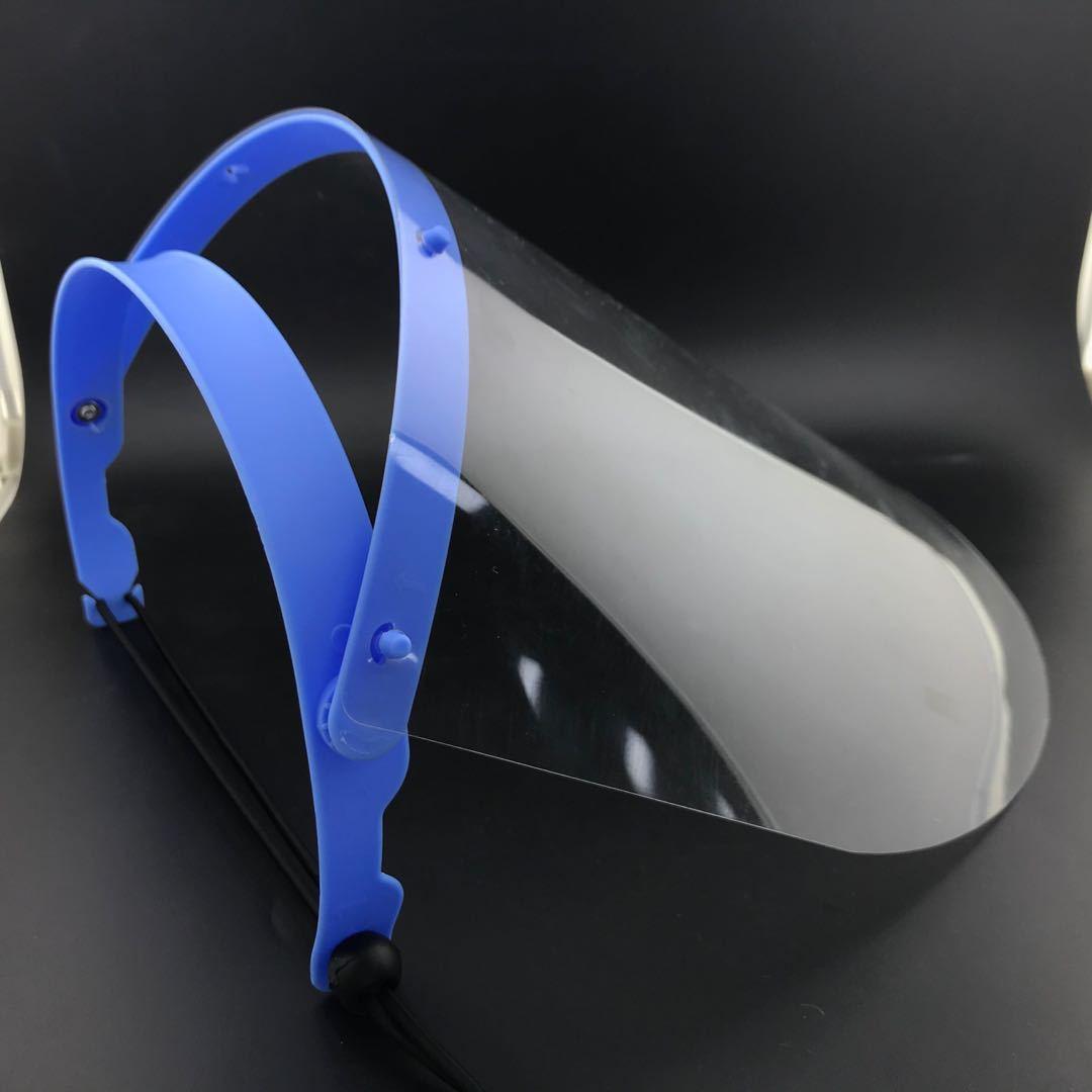 2020 New Clear Transparent Adjustable Full Face Plastic Flip-up Visor Anti-fog Anti Bacteria Protective