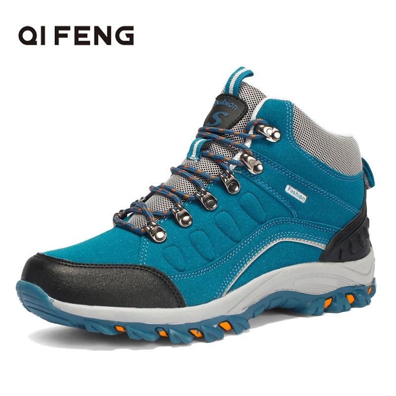 Botas de Caminhada para Mulheres dos Homens de Esportes ao ar Resistente ao Desgaste Tornozelo Livre Nova Moda Unissex Sapatos Pro-montanha Trekking Escalada Calçados