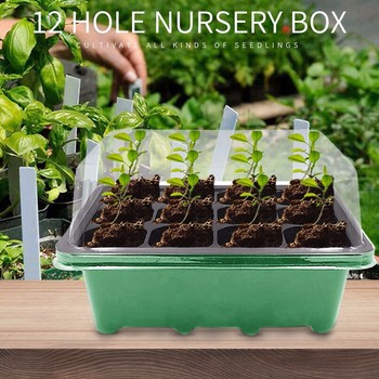 12 Hole Plant Seed Grows Box Nursery Pots Seedling Starter Garden Yard Tray Hot Home Vegetable Planting Container Garden Planter image