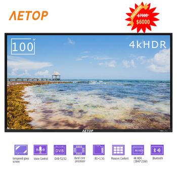 Darmowa wysyłka-nowy produkt 100 calowy smart tv przeciwwybuchowy led płaski ekran telewizor 4k HD tv z wifi tanie i dobre opinie NoEnName_Null 16 9 DVB-T2 DVB-S2 SECAM NTSC 4 K (3840*2160) Kabel zasilający instrukcja obsługi STAND Kabel HDMI Oprawa ścienna