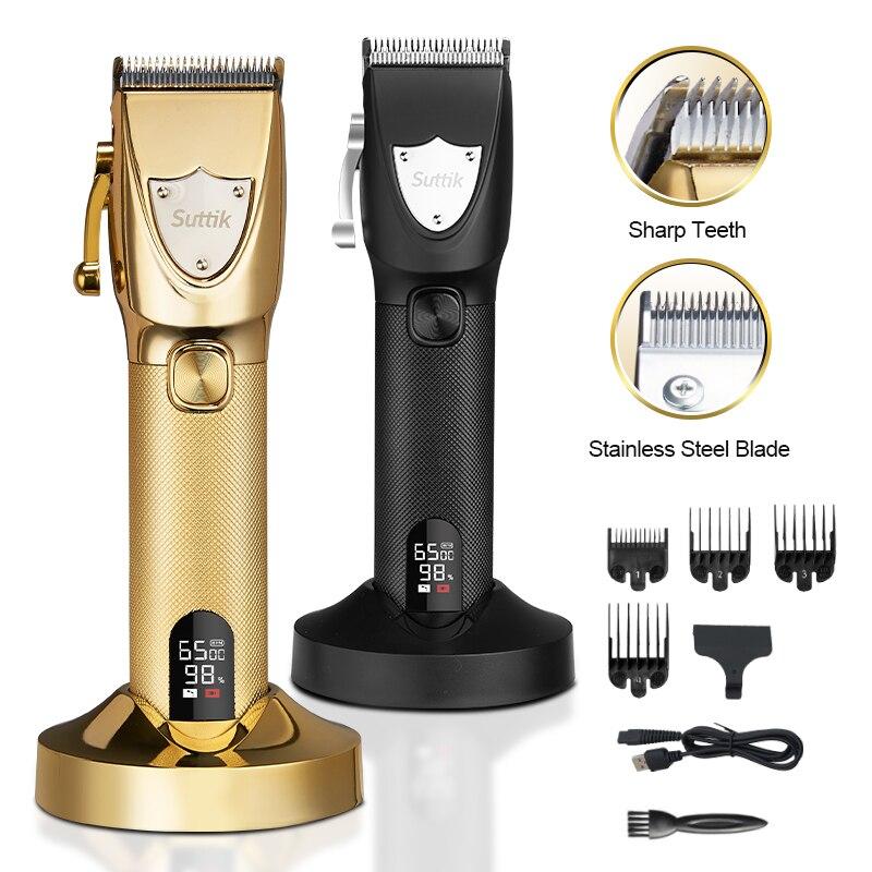 חשמלי גוזז שיער מקצועי שיער חיתוך מכונה זקן בארבר להסתפר לגברים נטענת מכונת גילוח זקן גוזם