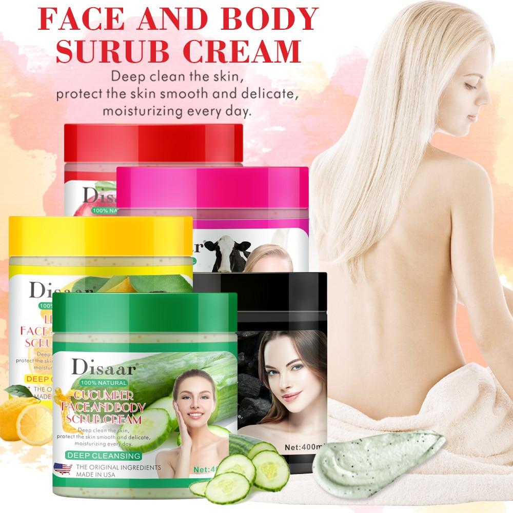 400g Facial And Body Exfoliator Face Scrub Natural Organic Peeling Exfoliating Moisturizer Body Exfoliante Beauty Cream