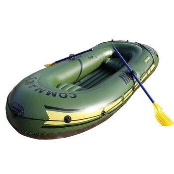 Bateau de Rafting épais gonflable pour deux ou trois personnes, Kayak de pêche en plein air avec coussin 1