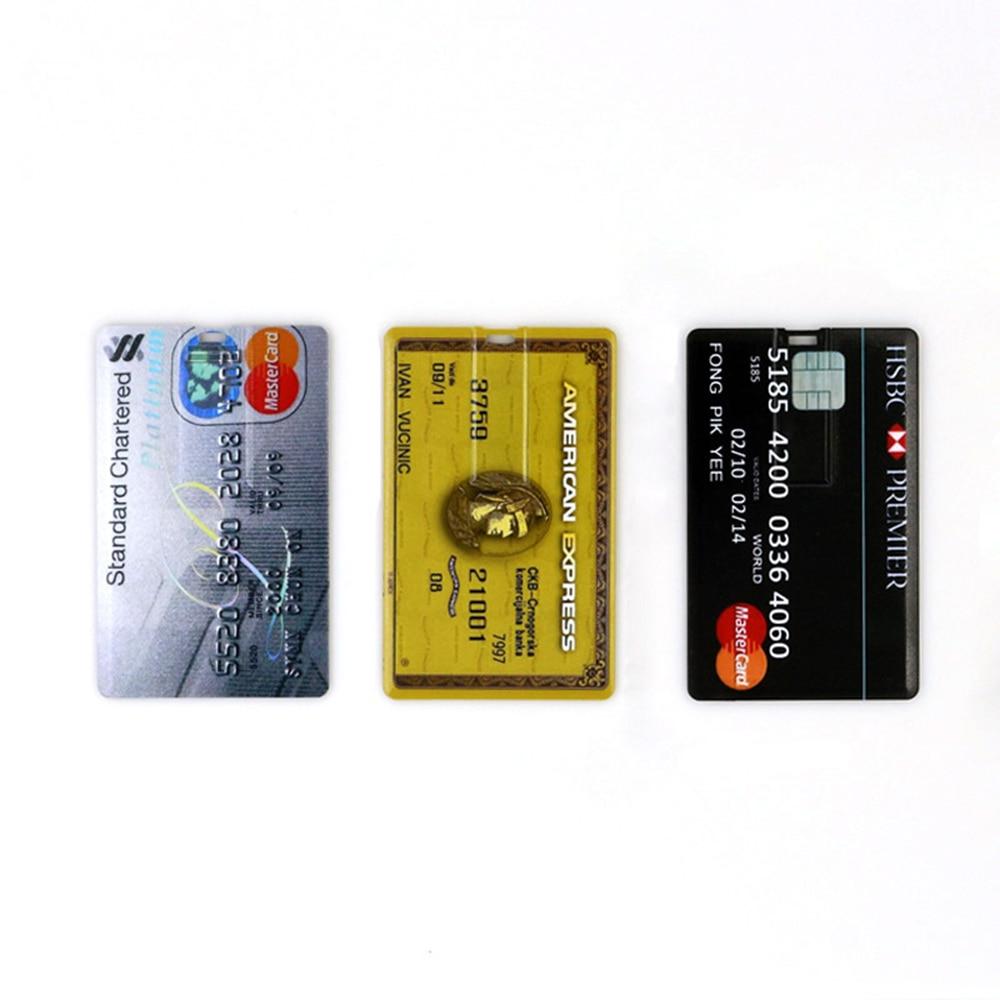 New USB Flash Drive 4GB 8GB 16GB 32GB 64GB Bank Cool Credit VIP Card Pen Drive Memory Usb Stick 2.0 Pendrive Flash Drive