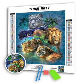 5D Tigre patrón de animales cuadro diamante pintura Kit de punto de cruz completo taladros redondos Rhinestones arte mosaico manualidad para regalo