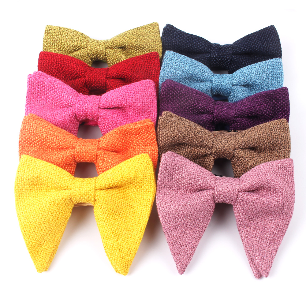 Men's Velvet Vintage Bow Tie For Men Women Tuxedo Solid Color Big Bowtie Bowknot Adult Mens Bowties Cravats Yellow Tie