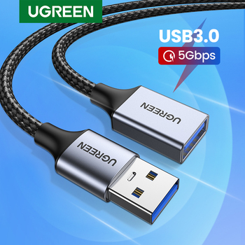 Ugreen USB 3.0 Cable USB Extension Cable Male to Female Data Cable USB3.0 Extender Cord for PC TV USB Extension Cable 1