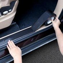 Наклейка на дверной порог автомобиля из углеродного волокна для Mercedes Benz A B C E S V M R CLS GLK CLK SLK GLE Class W168 W169 W176 W177