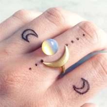 Светильник роскошный полумесяц женские кольца белые прозрачные