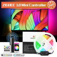 GLEDOPTO ZigBee 3,0 Smart TV Streifen Controller Pro Kit Mini 5V USB RGBCCT Arbeit mit Echo Plus SmartThings Tuya app/Stimme/Remote