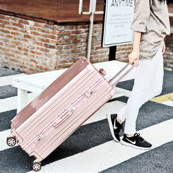 Ретро кожаная ручка алюминиевая рама коробка для путешествий Lugguge универсальная сумка для багажа на колесах дорожная тележка для мужчин и