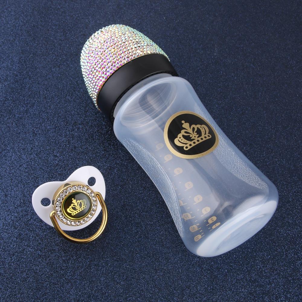 Feeding-Bottle Rhinestone Bling Newborn Bpa-Free Baby Luxury Pacifier 240ml with 8oz