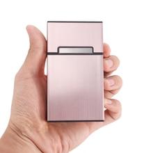 2021 ультратонкая модная трубка креативная Личная сигарета чехол тонкая металлическая коробка алюминиевая Подарочная коробка мини сигарета...