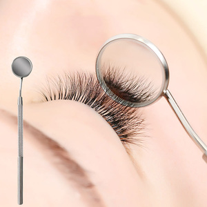 Mini Anti-fog Mirror for Checking Eyelash Extension Stainless Steel Non-Slip Handle Multi-purpose Personal Care MakeupTools 2019(China)