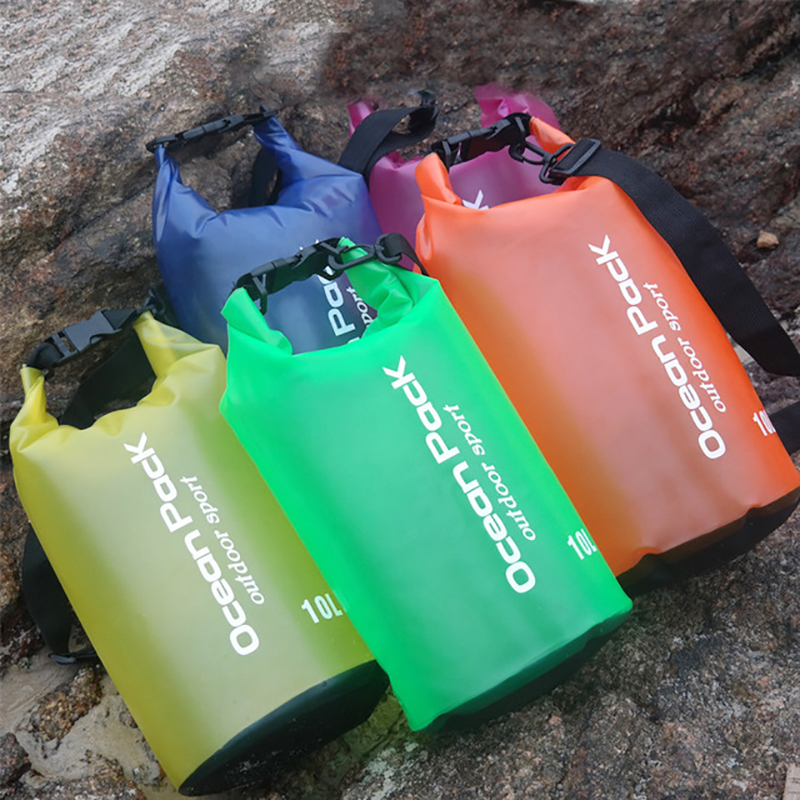 Portable Rafting Dry Sack PVC Waterproof Transparent Swimming Storage Shoulder Bag Ocean Pack For Trekking Upstream Travelling