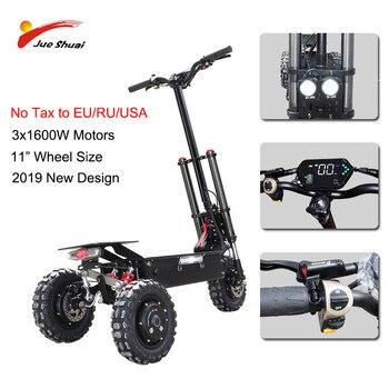 80 км/ч 3x1600 Вт моторы электрический скутер внедорожный 11 дюймов три мотора колеса E скутер Patinete Electrico Adulto Электрический скейтборд