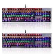 Универсальная Проводная Механическая клавиатура rgb usb 104