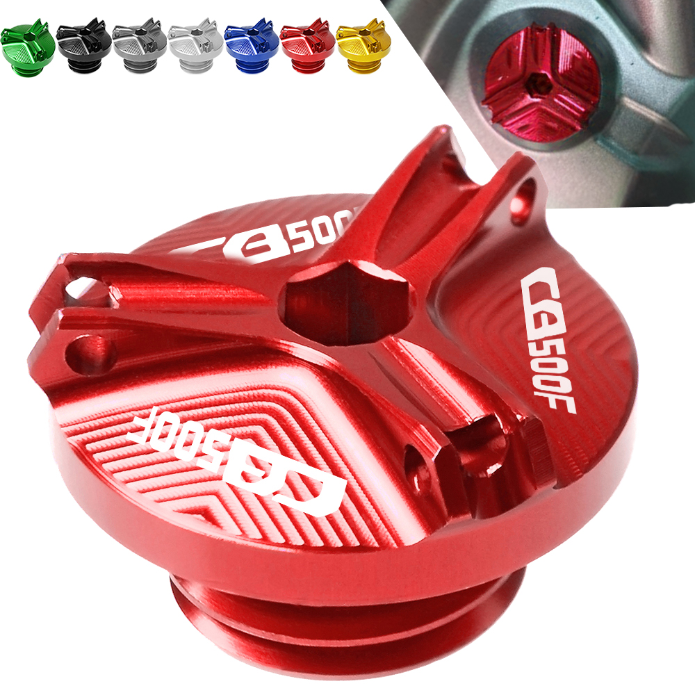 For <font><b>Honda</b></font> <font><b>CB500F</b></font> CB 500F 2013 2014 2015 2016 2017 <font><b>2018</b></font> 2019 Motorcycle CNC Aluminum Engine Oil Filter Cup Plug Cover screws image