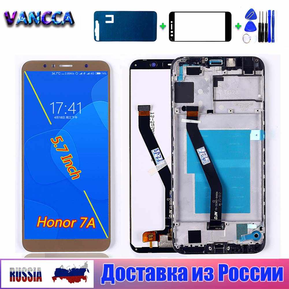 Display LCD Per Huawei Honor 7A Pro AUM-l29 da 5.7 pollici 1440*720 di Tocco Screen Digitizer Assembly Frame Per huawei honor 7A PRO LCD