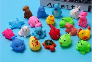 Image 5 - 10 pçs/set brinquedos de banho de bebê, brinquedos de lavagem, animais de borracha macia, brinquedos de flutuação sqeeze para bebê, gyh