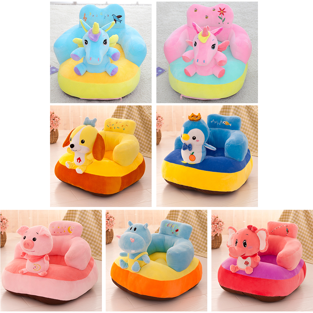 Baby Sofa Support Seat Plush Chair Toys Cartoon Nest Comfortable Learning To Sit Doll Children Portable Elements Cradle