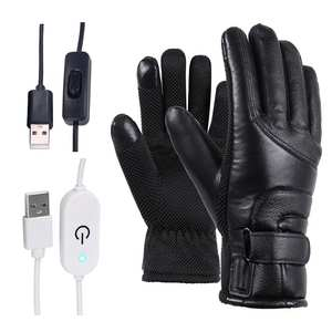 Heated-Gloves Cycling Usb-Powered Skiing Motorcycle Electric Winter Women Windproof Warm