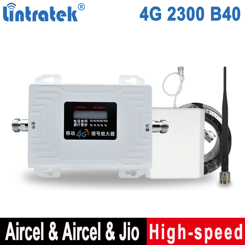 Lintratek TDD Band40 2300 1900 2600 Signal Booster Band38 1900 Band41 2600 TDD Mobile Phone Repeater 70dB AGC Amplifier Full Kit