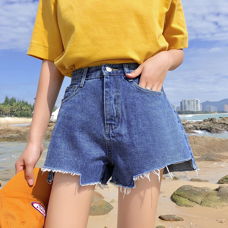 High Waist Casual Ins Shorts Women's Pants Korean Punk Harajuku Ulzzang Female Cute Vintage Kawaii Buttom For Women Chic Ins