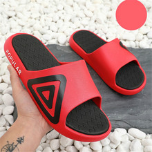 Coslony Men Slippers Non-slip Outdoor Beach Flip Flops Summer Shoes Women Slides for men red Sandal Calzado Mujer shower shoes