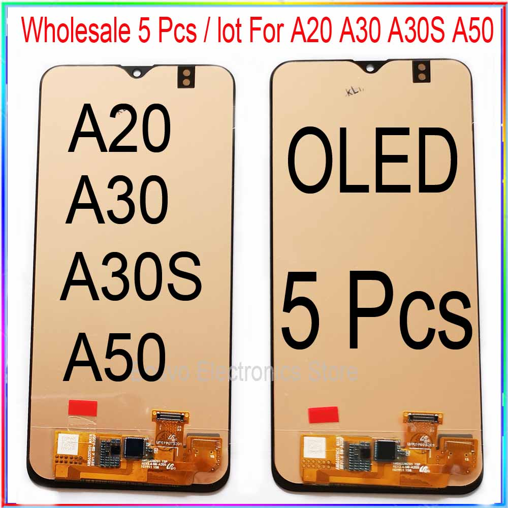 Wholesale 5 pieces/lot for <font><b>Samsung</b></font> A20 <font><b>A30</b></font> A30S A50 LCD screen <font><b>display</b></font> with touch assembly image