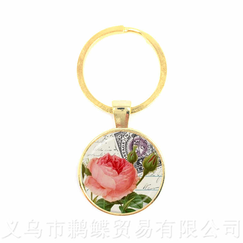 המנדלה פרח עיצוב זמן פנינה מחזיקי מפתחות אירופאי ואמריקאי שן הארי Keyring תליון מתנה לחברים