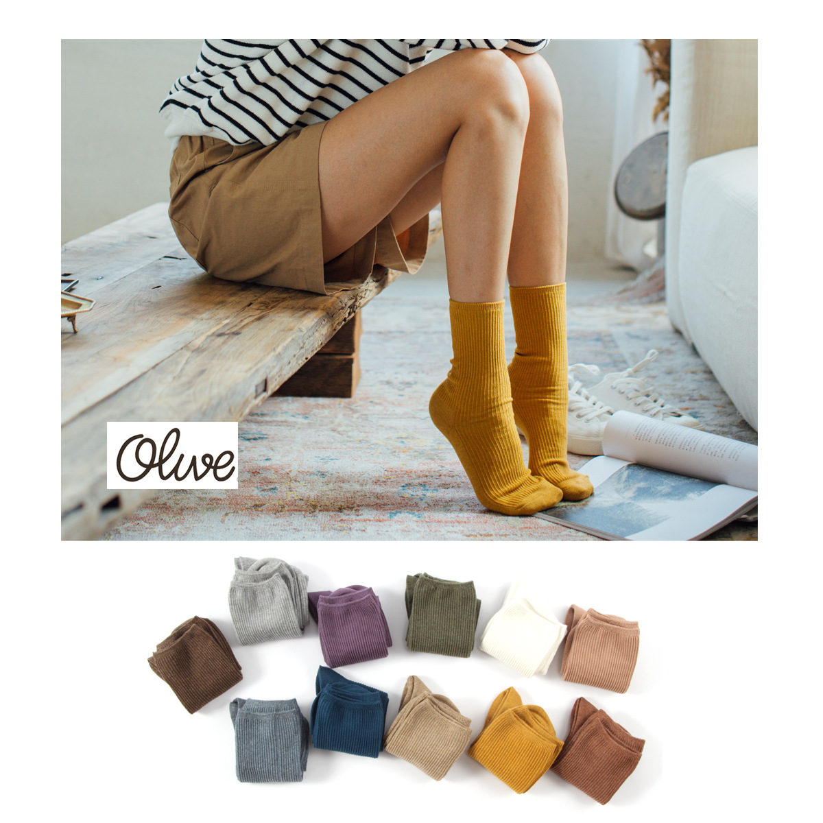 Socks Woman 2019 Autumn New Fashion Women's Socks Solid Color Cotton 1 Pair Color Girls Casual Breathable Ladies  Socks Women