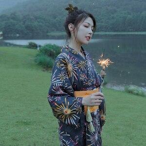 Kimono de algodón japonés de alta calidad para mujer, albornoz tradicional, kimono de fuegos artificiales de verano para hombre, 10 estilos
