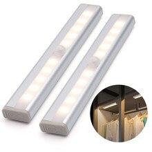 LED Rechargeable PAR USB LUMIÈRE de Nuit Capteur De Mouvement Lumière Pour Armoire De Cuisine Armoire Décoration Murale Placard Lampe Veilleuse