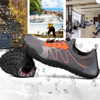 Szybkoschnący elastyczny Trekking pływanie obuwie obuwie wodne mężczyźni kobiety plaża Surfing buty do wody Outddor antypoślizgowe sporty wodne buty tanie i dobre opinie Loekeah CN (pochodzenie) Dobrze pasuje do rozmiaru wybierz swój normalny rozmiar Spring2019 elastyczna opaska Początkujący