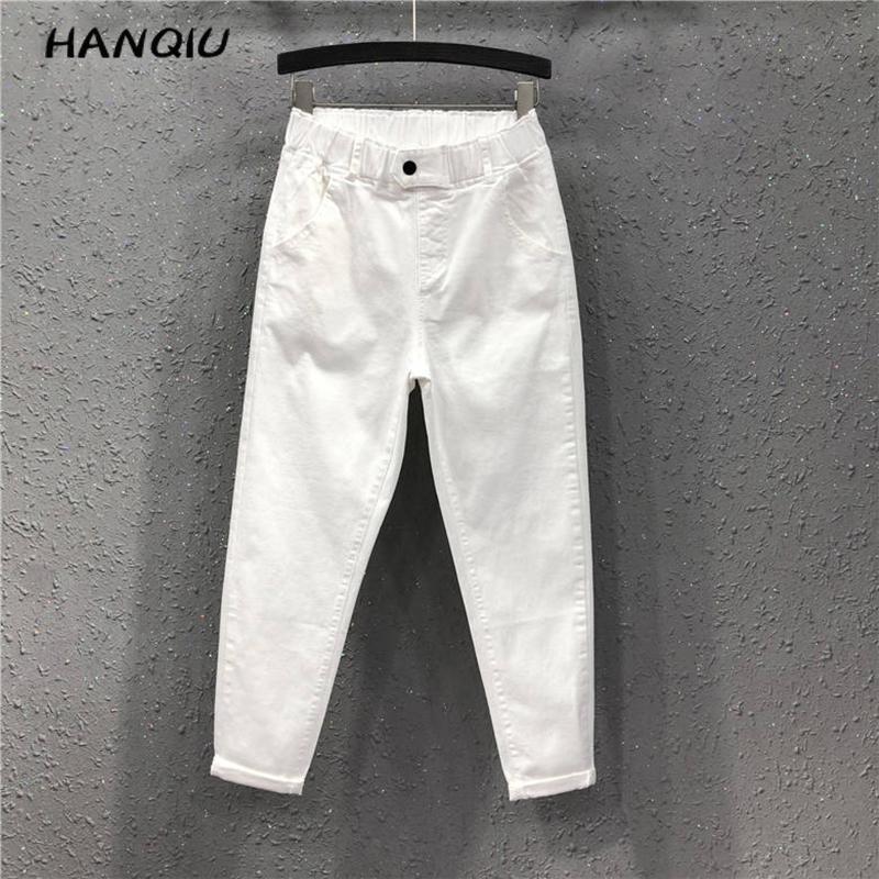 2020 Fashion Boyfriend Jeans For Women Mom High Waisted Jeans Plus Size Black Harem Jeans Trousers Women Denim Pants Streetwear