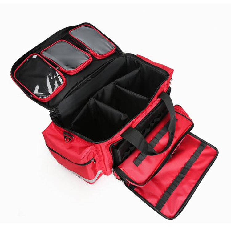 Outdoor First Aid Medical Bag Isolation Multi-pocket Large Storage Portable Cross Emergency Medical Bag Sports Travel Nylon Bag (8)